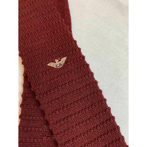 Giorgio Armani Maroon Textured Wool Tie